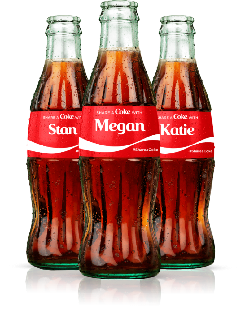 personalised Coca-cola